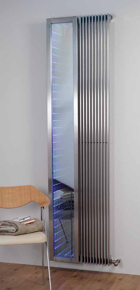 New Venetian Infinity Mirror Modern Radiator by Aeon