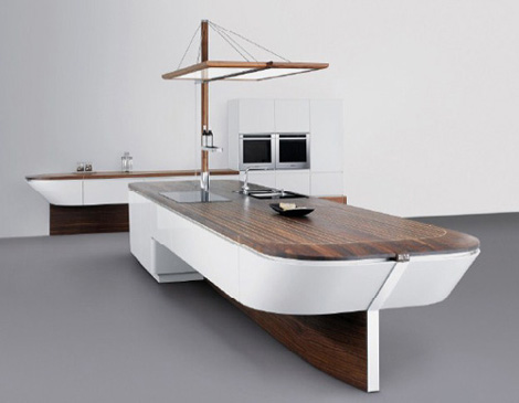 Newest-luxury-kitchen-design-made-of-natural-wood-and-white-laquer-planes