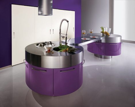 Unique-moedrn-design-idea-violet-kitchen-with-stainless-steel-appliances